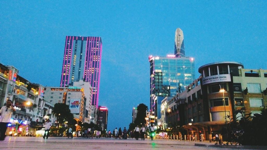 Walking street in Ho Chi Minh city