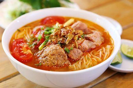 The Vietnamese crab noodles
