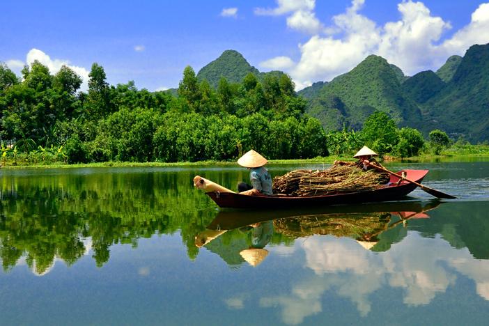 Postcard-like scenery in the Mekong Delta